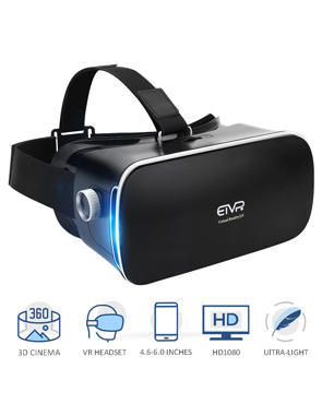 4cb39494544 Ultra-light 3D Movies Games VR Immersive Virtual Reality Headset with  Built-in HQ Aspherical Lens